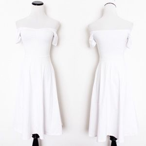 American Apparel ruched Off the Shoulder Dress